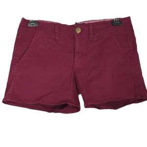 American Eagle Shortie Shorts Red Size 2